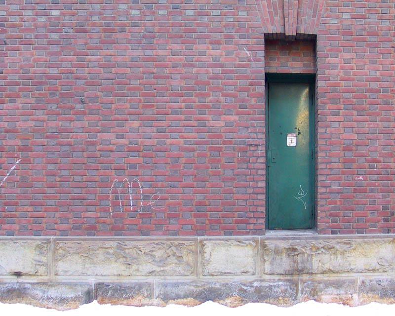 Green Door And Red Bricks
